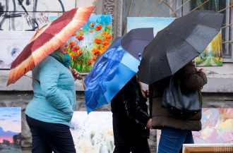 Киев,дождь