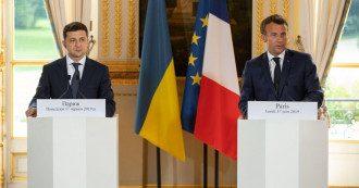 Зеленський зустрічається з Макроном у Парижі