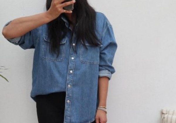 Модные джинсовые рубашки 2021
