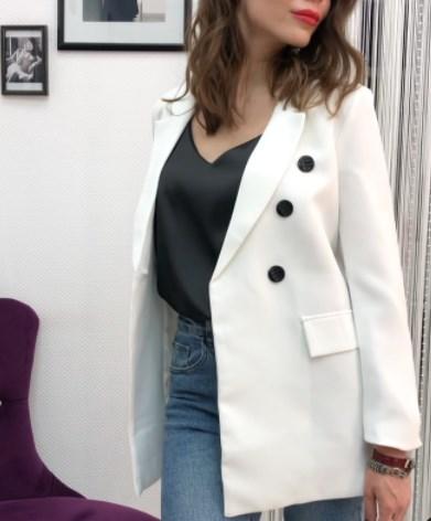 Модний білий піджак 2021 весна-літо