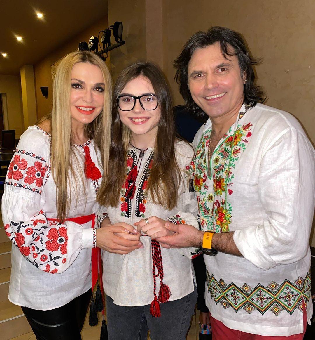 Ольга Сумська з сім'єю