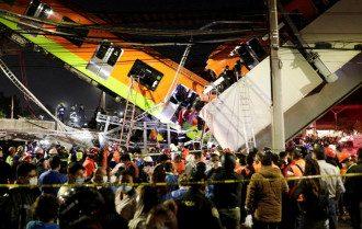 В Мексике в результате обрушения моста-метро погибли 13 человек, есть десятки пострадавших