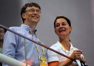Билл Гейтс и его жена Мелинда