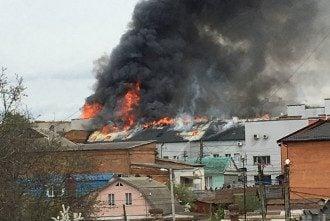 Пожар в Виннице