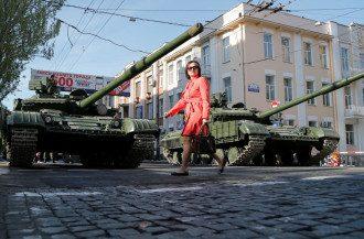 Оккупированный Донецк 2021, танки