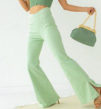 Модные брюки-клеш лето 2021