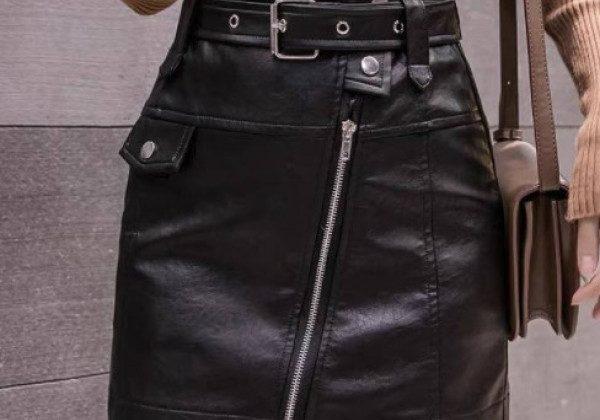 Кожаные юбки весна-лето 2021