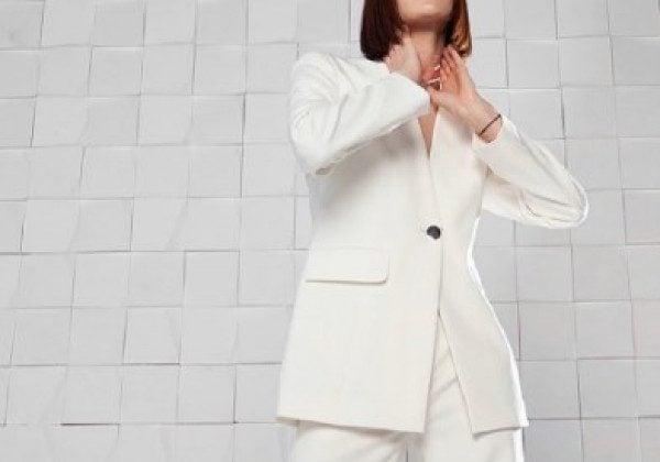 Модный белый пиджак 2021 весна-лето