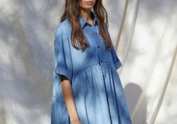 Модные джинсовые платья 2021