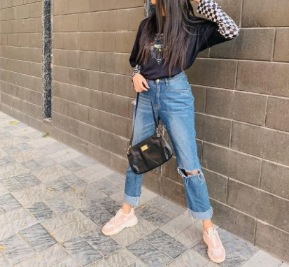 Модные прямые джинсы 2021