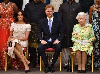 Принц Гарри, Меган Маркл и Елизавета ІІ