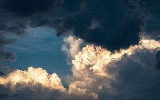 небо, гроза