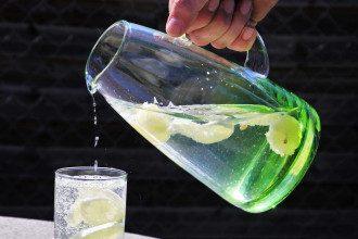 вода и лимоном