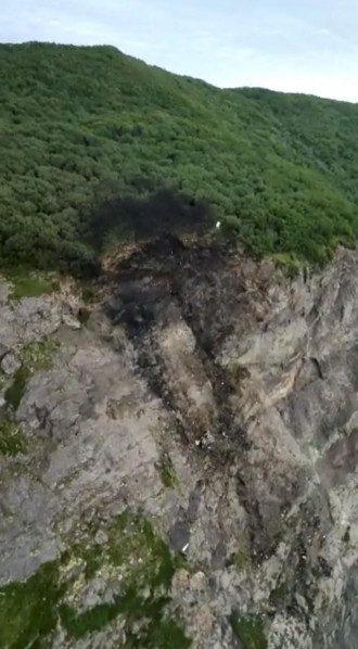 Место крушения Ан-26 на Камчатке