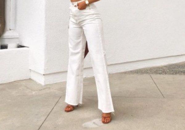 Модные белые джинсы лето 2021