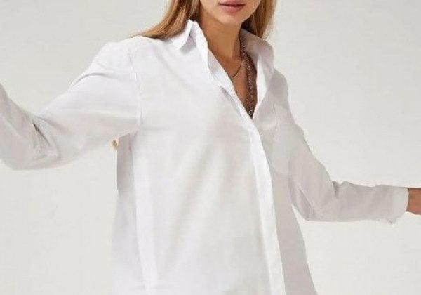 Модные белые женские рубашки