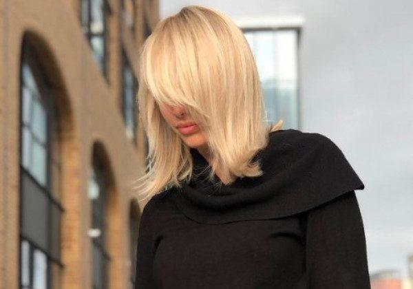 Стрижка на средние волосы длинный боб 2021
