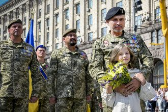 военные, парад