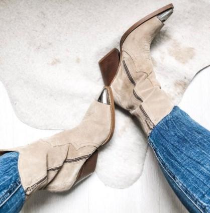Модные ковбойские сапоги осень-зима 2021 2022