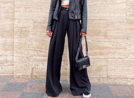 Модные женские брюки палаццо осень-зима 2021 2022