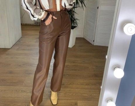 Модные кожаные брюки 2021 2022