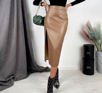 Модные кожаные юбки 2021 2022