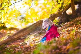 осень, погода, ребенок