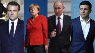 Макрон, Меркель, Путин, Зеленский