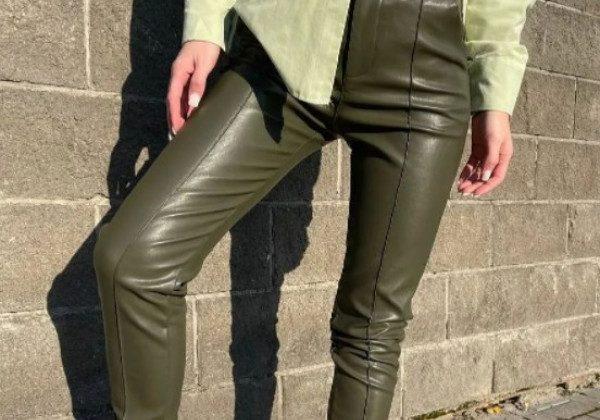 Модні шкіряні штани 2021 2022