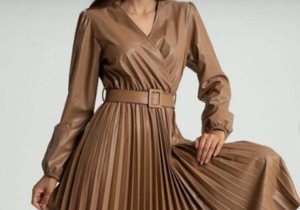 Модні шкіряні сукні 2021 2022